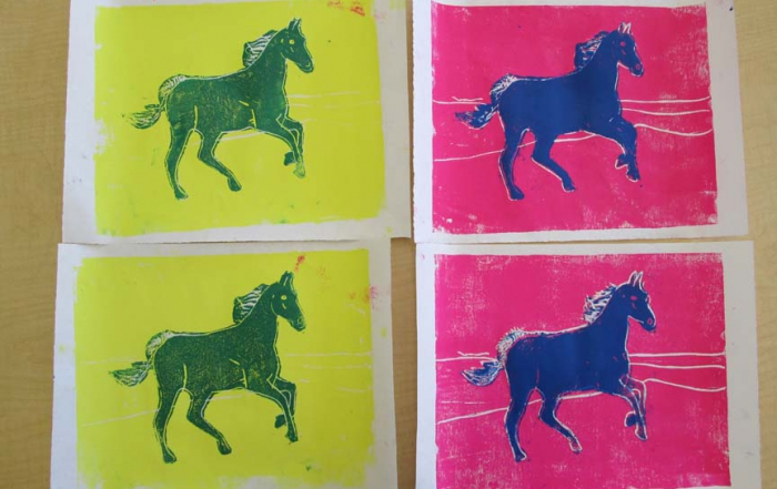 Andy Warhol style prints from our Upper Elementary
